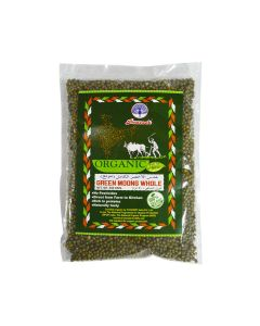 PEACOCK ORGANIC GREEN MOONG WHOLE 500 GM