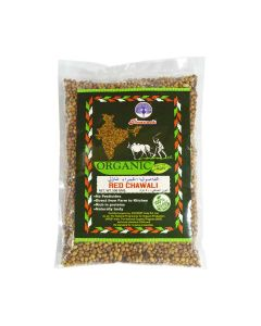 PEACOCK ORGANIC RED CHAWALI 500GM