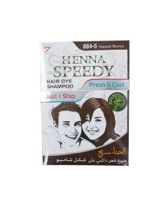 HENNA SPEEDY HAIR DYE SHAMPOO 30 ML NATURAL BROWN