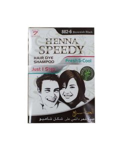 HENNA SPEEDY HAIR DYE SHAMPOO 30 ML BROWNISH BLACK