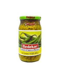 BEDEKAR GREEN CHILLY PICKLE 400G
