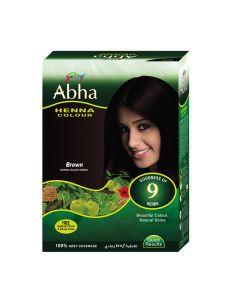 GODREJ ABHA HENNA HAIR COLOR BROWN 60GM