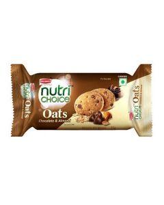 BRITANNIA NUTRI CHOICE OATS COOKIES CHOCO ALMOND 75 GM