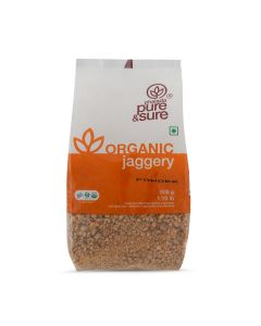 PURE AND SURE ORG JAGGERY POWDER 500GM