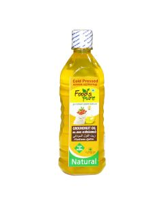 FOODS PURE COLD PRESSED GROUNDNUT OIL 1LTR