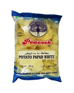 PEACOCK POTATO PAPAD WHITE JALGAON 200 GM