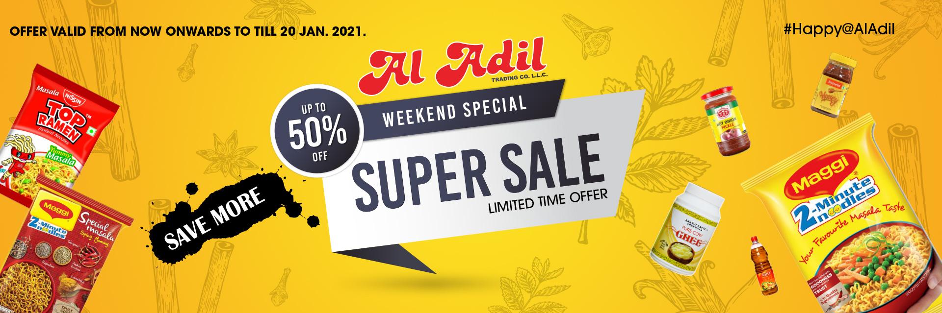 Weekend offer web banner